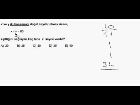 Pratik Matematik Sayılar Soru Çözümü