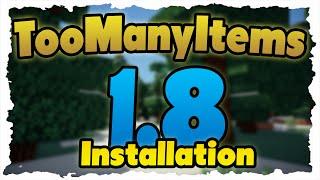 Minecraft TooManyItems Mod - Installation auf 1.8! & Neue Funktionen gezeigt!