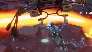 RIDE 3 DIFFERENT VOLCANO VENTS WITHOUT LANDING - Fortnite Week 9 Season 8 Challenge