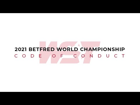 2021 Betfred World Championship: Code of Conduct