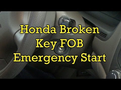 Honda Broken Key Fob-Emergency Start