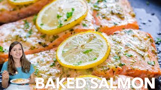 Dinner: Baked Salmon With Garlic And Dijon - Natashas Kitchen