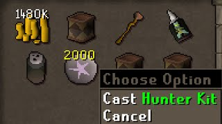 Making hunter kits is 1.6m gp an hour and gives 58k magic xp - Money Making Guide