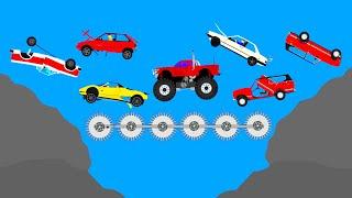 A LOT OF CARS CRASHES  EXTREME CAR DESTRUCTION PHUN ALGODOO