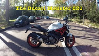 test riding the ducati monster 821