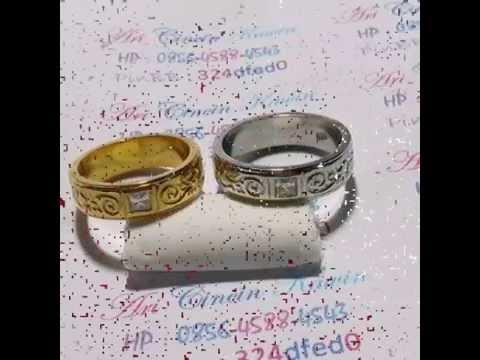 Koleksi Cincin Kawin Tunangan Pernikahan Emas Perak Palladium  foto jadi