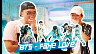 BTS - FAKE LOVE REACTION / NO FAN Y UN FAN REACCIONANDO JUNTOS | kenroVlogs ft. CoreanoVlogs