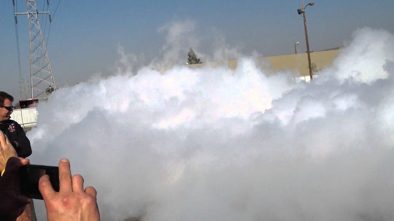 Huge Liquid Nitrogen Release Pool Cloud Biggest Ever