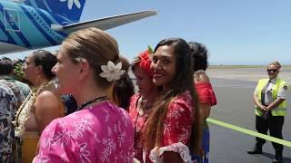Arrivée à Tahiti du 1er Boeing 787-9 Dreamliner