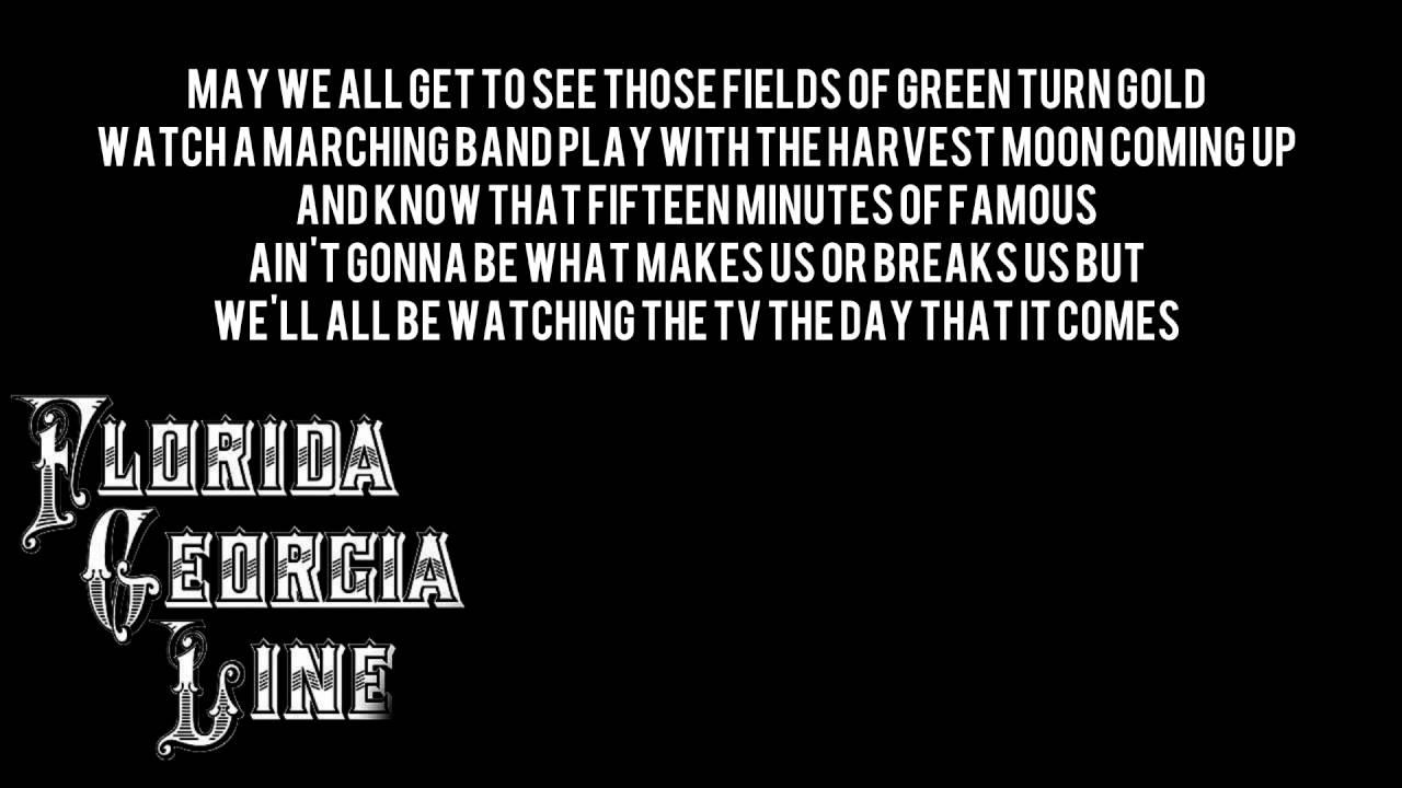 Florida Georgia Line Song Lyrics May We All Wiring Diagrams