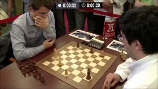 Magnus Carlsen vs Vladimir Kramnik - Blitz Chess Ending