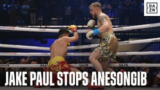 Jake Paul Defeats AnEsonGib Via First-Round Stoppage