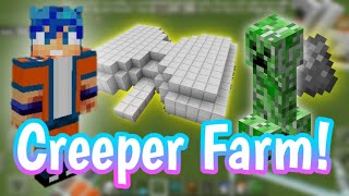 Easy Java/Bedrock Creeper Farm