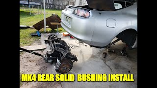 MK4 SUPRA REAR DIFF/SUBFRAME SOLID BUSHING INSTALL