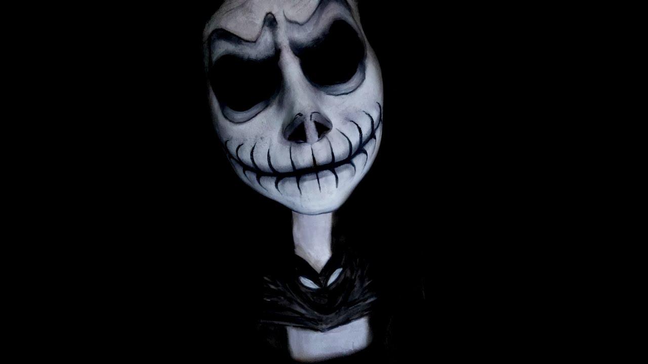 Maquillaje de Jack Skellington - YouTube