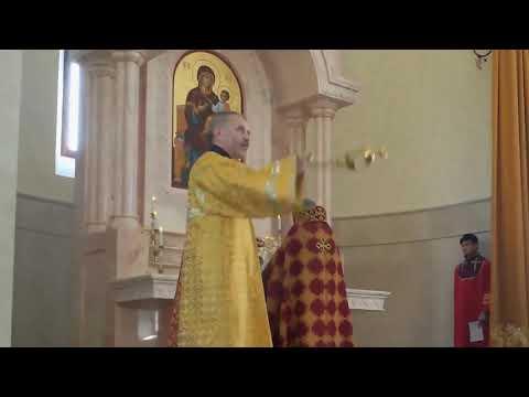 Литургия в армянской церкви Григория Просветителя города Днепр (фрагментарно)
