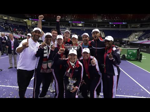 Team USA Fed Cup 2017 Trophy Presentation
