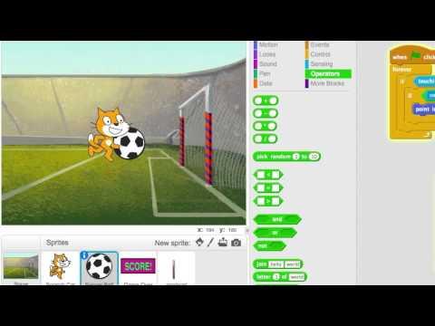 Make a simple Soccer game in Scratch – CoderDojo