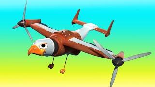 АнимаКары - ЧЕРЕПАХА ПОЖАРНАЯ МАШИНА боиться высоты - мультфильмы для детей с машинами и животными