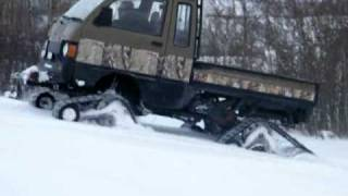 Daihatsu Hijet with Tracks-Samurai Trucks 2010 Winter