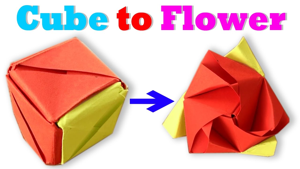Origami Rose Cube Tutorial - How To Make An Origami Magic Rose ... | 720x1280