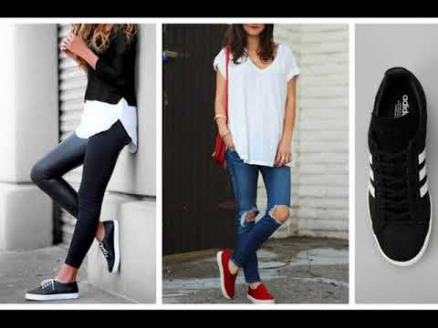Outfits Casuales Con Tenis - YouTube