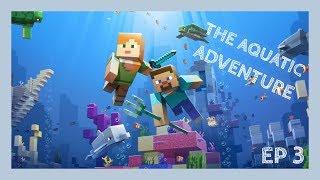 Minecraft: The Aquatic Adventure Ep. 3 - STUPID SILVERFISH!!