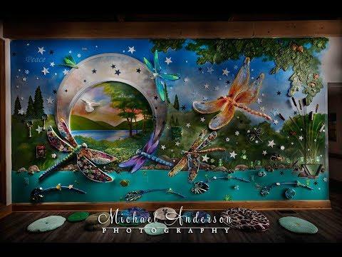 Sensory Art Wall Light Painting Photograph at Crescent Cove