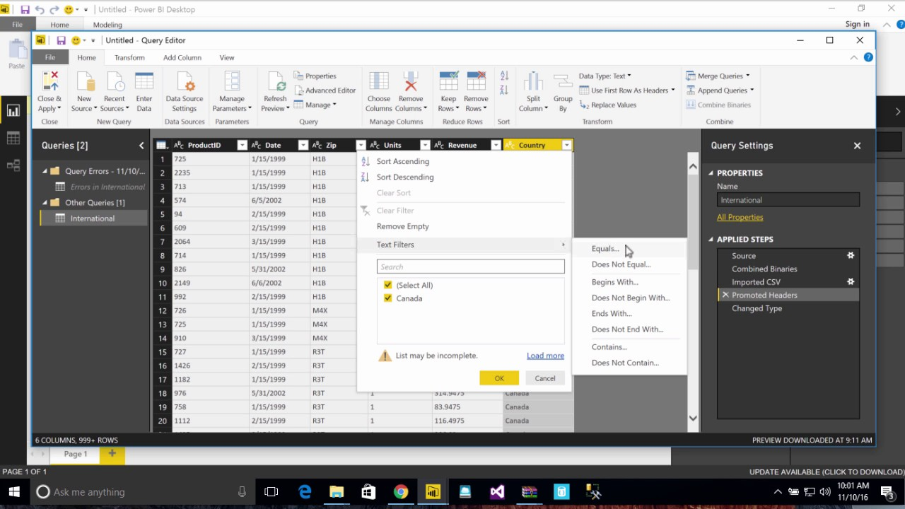 Power BI Error - Correcting the error: We couldn't parse the input provided  as a Date value