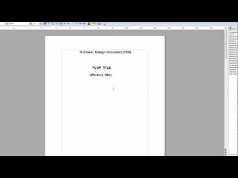 How to Make and Write a TDD (Technical  Design Document) Part 1