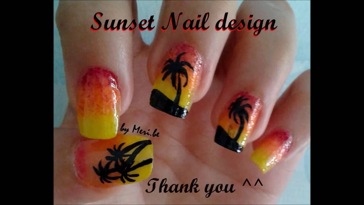 Sunset Nail Design Youtube