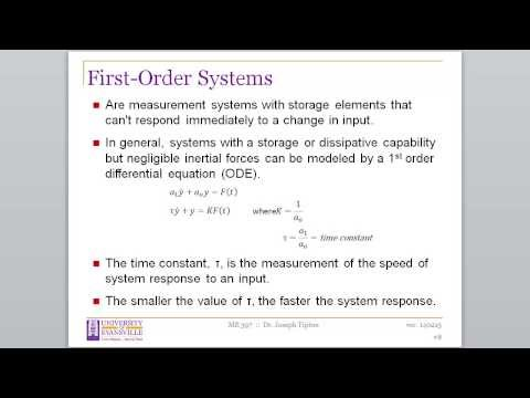 """ME397 Week #6 """"First Order Measurement Systems"""""""