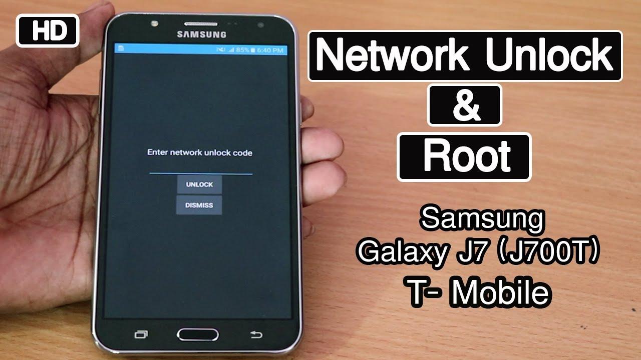 Samsung Galaxy J7 (J700T) Network Unlock & Root 2018 (T- Mobile )100% ok