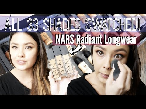 The NEW NARS Radiant Longwear Foundation Review | ALL 33 SHADES SWATCHED!