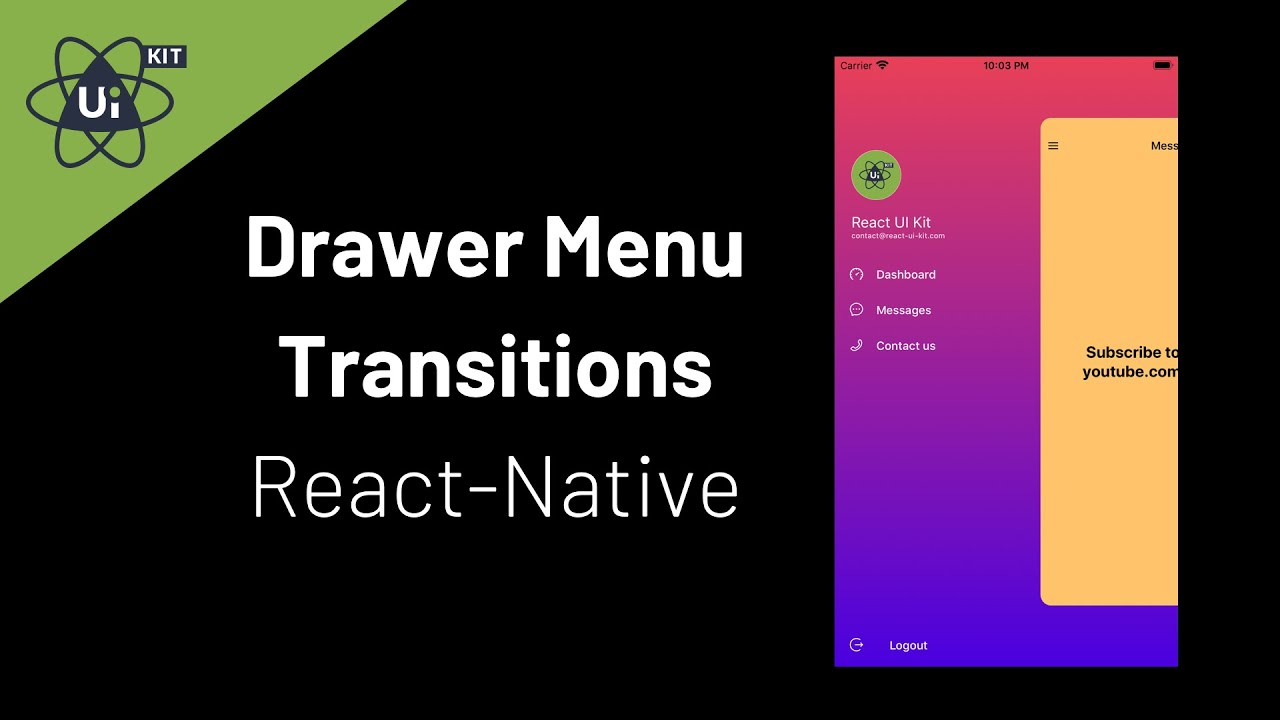 Drawer Menu Screen Transitions using React-Navigation V5 - React Native