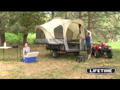 Lifetime C&ing Tent Trailer & Lifetime Camping Tent Trailer - YouTube