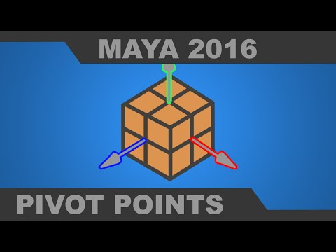 Working with the Pivot Point in Maya 2016