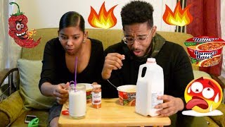 HOLY F**K!!! That Was HOT! - Bro and Sis Spicy Ramen Noodle Challenge