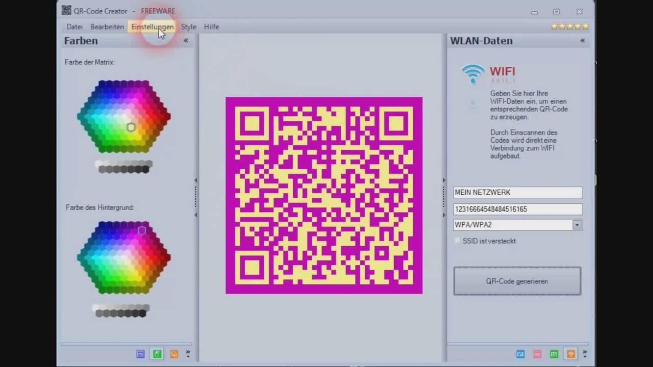 QR-Code Creator - WIFI Daten