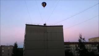 Неопознаный шар в вечернем небе