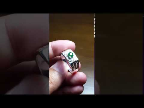 Emerald Top Grade Ring sterling silver 925 Ring size, 19