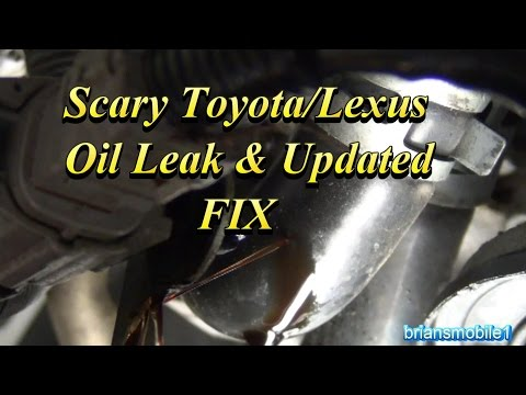 Scary Toyota / Lexus Oil Leak & updated Fix