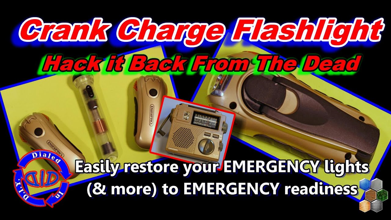 how to fix a dead crank charge flashlight electronics life hack [ 1280 x 720 Pixel ]