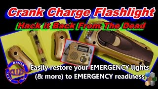 How to Fix a Dead Crank Charge Flashlight - Electronics Life Hack