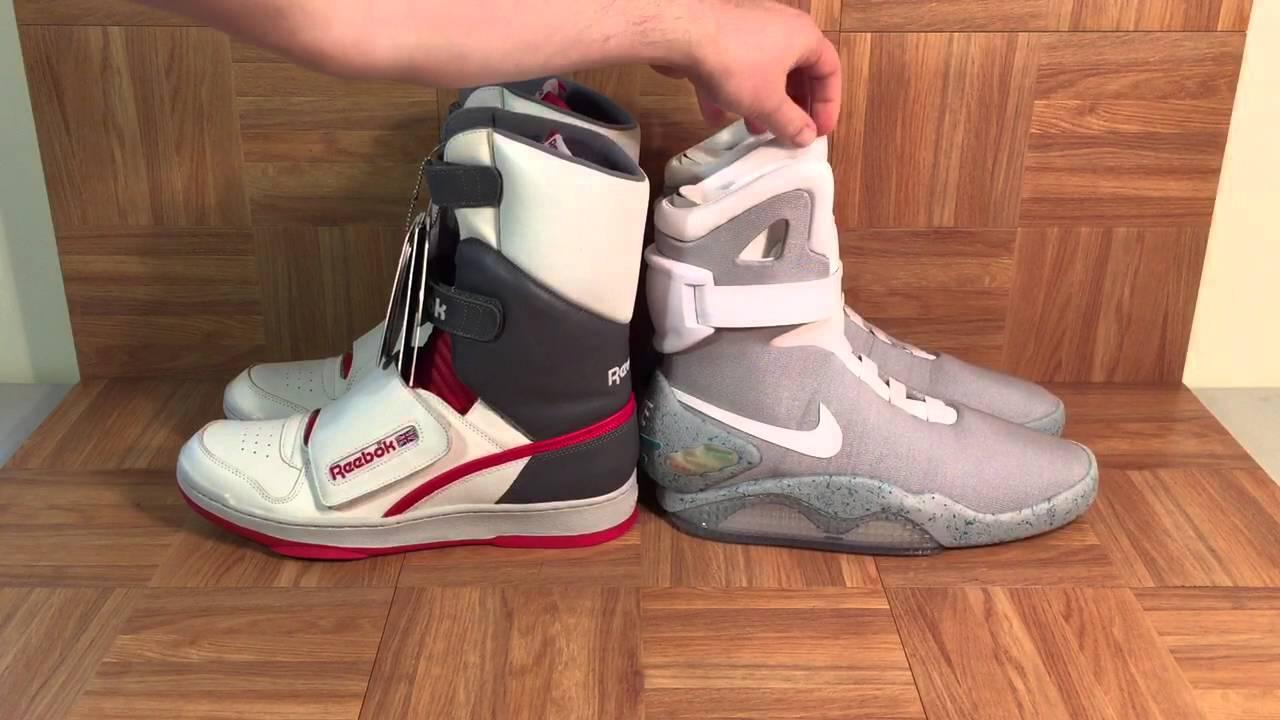 2b1f9990674119 ShoeZeum Reebok Alien Stomper Highs Versus Nike Mags - YouTube
