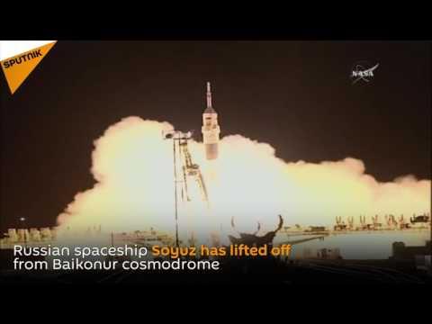 Russian Soyuz Takes Off From Baikonur Cosmodrome