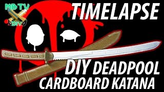 Deadpool Movie DIY Cardboard Sword / Katana Full Timelapse