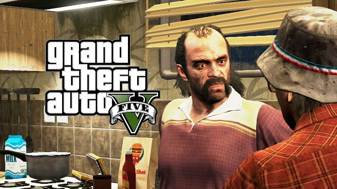Gta V  Invadindo Estudio Lamar E Enrosco Do Michael E Trevor Gta  Em Portugues Pt Br Youtube