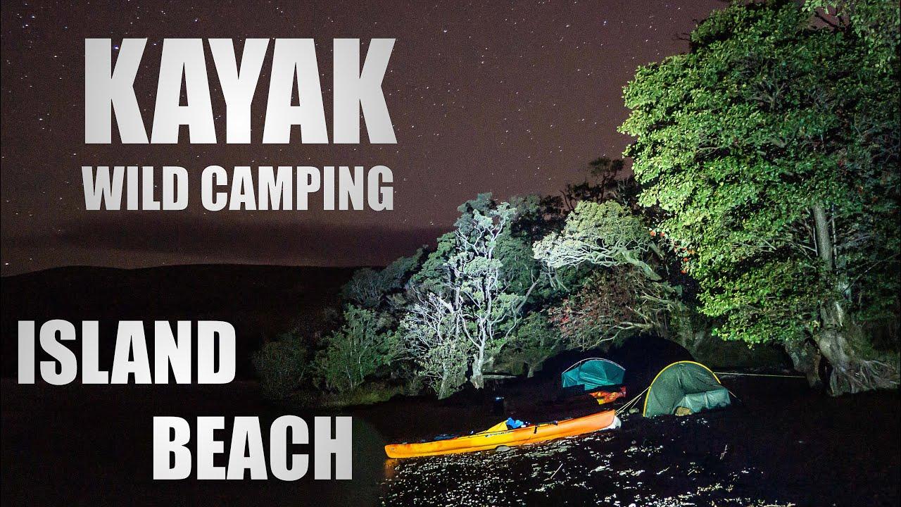 Kayak Wild Camping | Island Beach Camp - YouTube