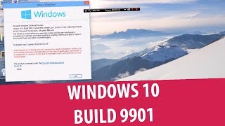 Windows 10 Technical Preview build 9901